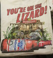 Vintage 1998 Budweiser Beer Lizard T Shirt XL Collectors Your One Sick Lizard