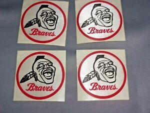 "Vintage Lot (4) 1950/1960's Milwaukee Braves 3"" Patch, Native American Logo"