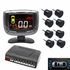 Car Parking Sensors Radar System Sensor LCD Reverse Backup 8 Rear Front View UK