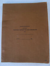 Walter Lang Director King and I 20th Century Fox Artist Contract Signed 1958