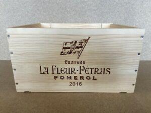 Weinkiste Holz 6er Kiste Deko Wein Shabby Pomerol Regal Château La Fleur Petrus