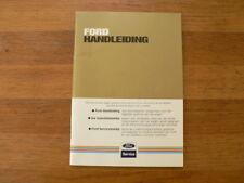 FORD HANDLEIDING ALGEMEEN DAGELIJKS GEBRUIK AUTO 9/83