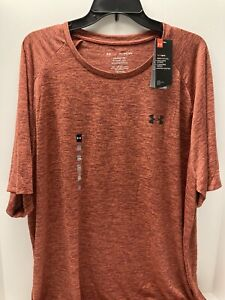 UNDER ARMOUR MEN'S BIG & TALL LOOSE FIT SHORT SLEEVE SHIRT RED 3XL 4XL NEW NWT