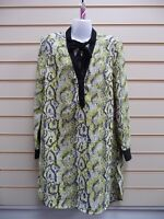 French Connection Women's Top Size 8 Yellow Longline Tunic Snake Print BNWT G012
