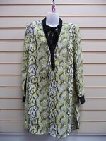 LADIES SHIRT YELLOW SIZE 8,10 FRENCH CONNECTION SNAKE SKIN PRINT BNWT (G012)