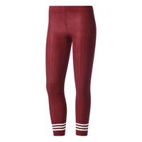 adidas Originals 3 Stripes Tights Size XS Burgundy RRP £35 Brand New BR9640