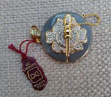 Chiusura per collana placcata oro De Liguoro vintage gilt necklace clasp closure