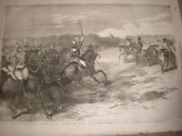 Review Household troops Windsor Great Park Cavalry Charge 1855 print ref AV