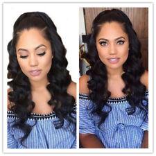 3Bundles/150g Loose wave Meileer Hair Weave Virgin Remy Human Hair Extension 1B#