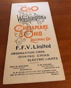 January , 1898 Chesapeake and Ohio Timetable