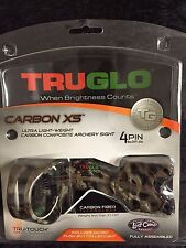 TRUGLO Carbon XS Lost Camo 4 Pin Bow Sight