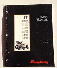 Simplicity Parts Manual LT Series 12.5 LTH 12.5 LT 16 LTH