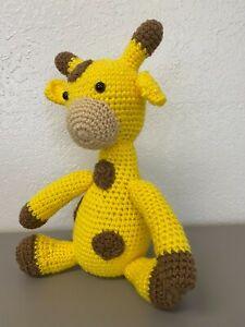 Handmade Crochet Animal Giraffe Plush Yellow