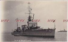 "Royal Navy Real Photo. HMS ""Dauntless"" Cruiser. China Station. S. Africa. c 1920"