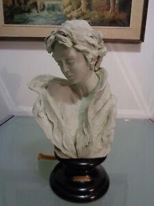 "Busto Statua "" Donna Velata "" ritratto scultura ceramica bisquit Gianni VISENTIN"