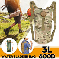 3L 600D Water Bag Hydration Backpack Pack Cycling Hiking Army Tactical