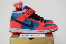 2008 Nike Dunk Mid Pro SB SPIDER MAN Size 9 marina blue red gold box 314383 401