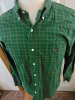 Polo Ralph Lauren Mens Long Sleeve Button Front Shirt Green Check Size Large