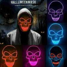 LED Horror Maske mit 3 versch Modi, Clownmaske Halloween Cosplay Karneval Party