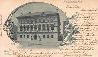 Public Library, Newark, N.J., Very Early Postcard, Used in 1903