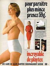 PUBLICITE ADVERTISING 035  1984  PLAYTEX  gaine culotte sous vetements