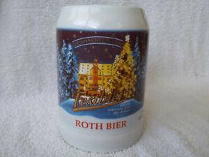 Vintage 1999 Roth Bier Stein, Schweinfurt Germany, Christmas, German, Nice!