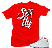 Shirt to match Air Jordan History of Flight Retro 13. So Fly  Red Shirt