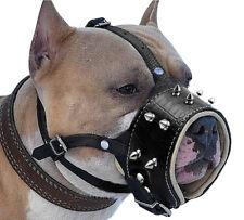 Bozal de piel para Perros Grandes Previene Mordidas Ladridos pitbull Muzzle L