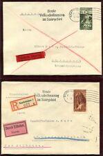 SAAR 1934 199-201,204-205 SCHÖNE SAMMLER-BRIEFE EINZELFRANKATUREN(64397c