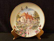 Franklin Mint Heirloom Limited Edition Plate #La8882 Rose Cottage Peter Banett