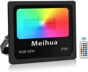 Projecteur Led 50W RGB Spot Exterieur Eclairage Interieur Telecommandee 360 FR