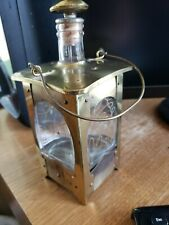 Vintage Brass Music Box Lantern Style Bottle Collectible Antique Decanter Japan