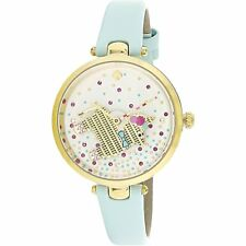 Kate Spade Women's Holland KSW1329 Gold Leather Analog Quartz Fashion Watch
