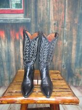 Ladies Black Leather Nocona Cowgirl Boots Sz:7 B