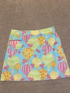 Vintage Lilly Pulitzer Hot Air Balloon Ride Skirt Size 8