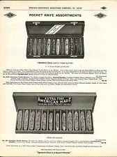 1910 ADVERT Diamond Edge Safety Press Button Pocket Knife Knives Store Display