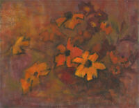 Barbara Doyle (b.1917) - 1972 Oil, Rudbeckia Flowers