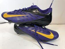 Nwob Nike Men's Vapor Pro Pf Football Cleats Size 13 Purple Yellow