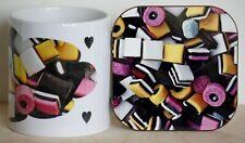 Liquorice Allsorts Mug and Coaster Gift Set