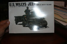 Bandai  WWII U.S.ARMY WILLYS JEEP Pin Point Series 1/48 Scale NO INSTRUCTIONS
