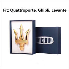 Maserati Quattorporte Ghibli Levante Front Grille  Emblem Gold Colour Modify 1PC
