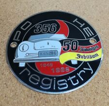 356 registry 50th anniversary Jähriges Jubiläum shield metal badge plate