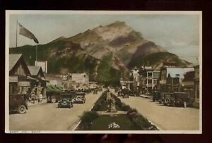 Canada Real Picture Postcard (Banff Ave in Banff, Alberta) Early 1900s UNUSED