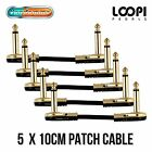 5 pack 10cm Pancake Patch Cables - Van Damme Thin Pro-patch Cable
