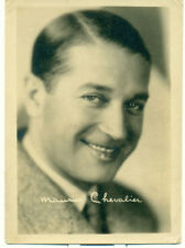 MAURICE CHEVALIER Movie Star Orig 1931 5x7 Fan Photo Signed