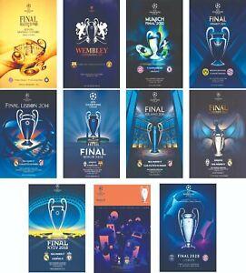 CHAMPIONS LEAGUE FINALS PROGRAMME COVERS 2010 - 2020 FRIDGE MAGNETS