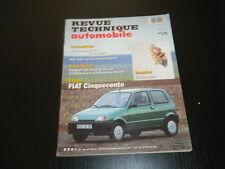 REVUE TECHNIQUE  AUTOMOBILE N° 571 FIAT CINQUECENTO