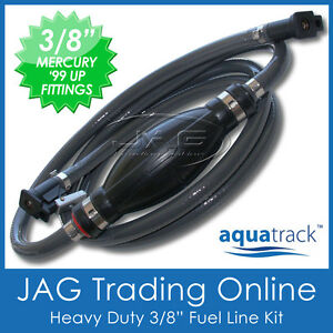 "3/8"" OUTBOARD FUEL LINE LATE MODEL MERCURY/MARINER 1999 & UP - 10mm ID Boat Hose"