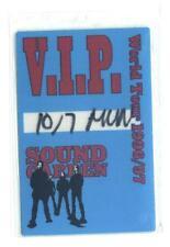 Sound Garden World Tour 1996/97 - Konzert-Pass V.I.P. - echtes Sammlerstück