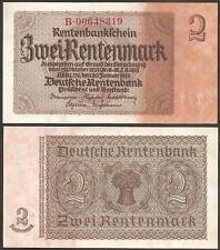 GERMANY 2 Rentenmark 1937 UNC P 174 b